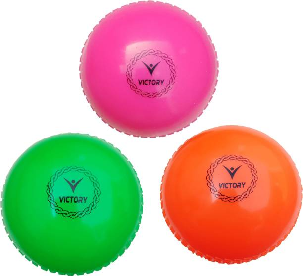 VICTORY Cricket Wind Ball (Pack of 3) - Made in India Smooth Cricket Synthetic Ball