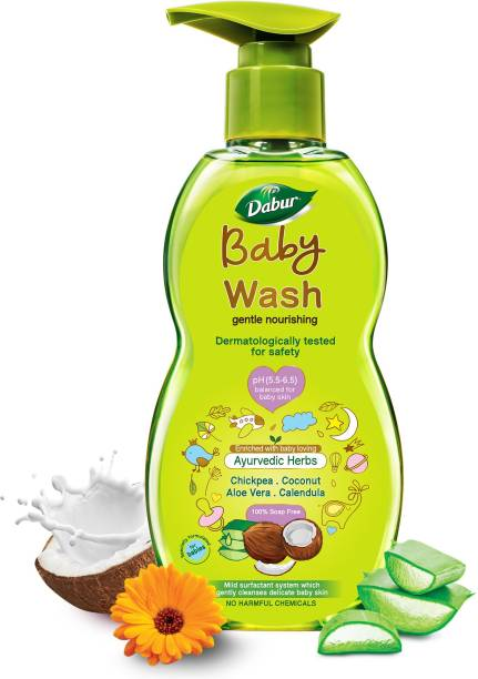 Dabur Baby Wash Tear Free |Contains Aloevera & Calendula | No Parabens & Phthalates