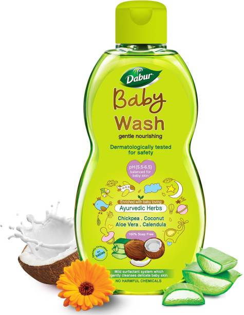 Dabur Baby Body Wash Tear Free |Contains Aloevera & Calendula | No Parabens & Phthalates
