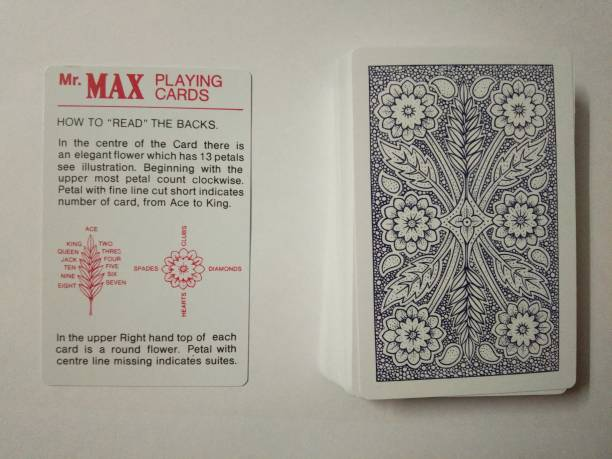 R.s.Magic Tricks Mr.Max SPY Marked Magic Playing Cards Best for Flash (Black) Card Magic