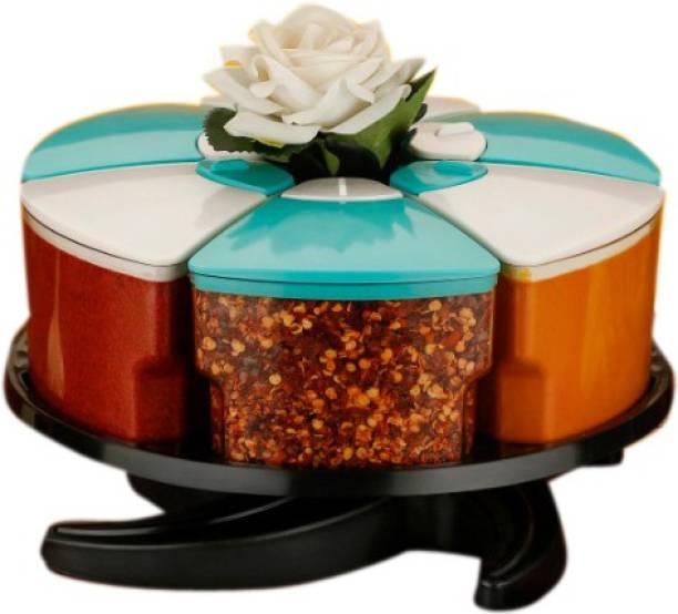 Optimus 360° Spice Jars Masala Jars Spice Box Masala Box Condiment Set Of 6 6 Piece Spice Set