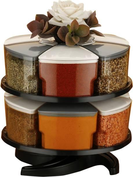 EXODUS 360° Spice Jars Masala Jars Spice Box Masala Box Condiment Set Of 12 12 Piece Spice Set
