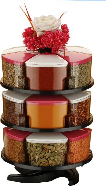 Optimus 360° Spice Jars Masala Jars Spice Box Masala Box Condiment Set Of 18 18 Piece Spice Set