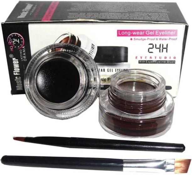 KANHIYA S.R.K Long Wear Gel Eye Liner Black, Brown Gel Eyeliner 6 g