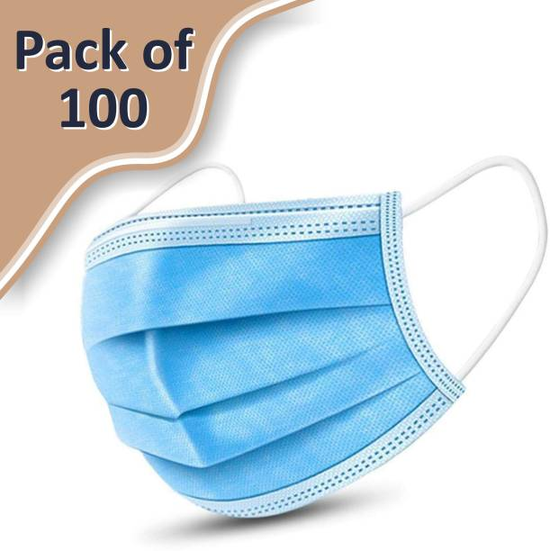 Pace International Health+Surgical Face Mask, 3 Ply mask with Melt Blown Fabric Laye ,Disposable 3 Ply Pharmaceutical Breathable Surgical Pollution Face Mask Respirator with 3 Layer For Men ,Women, Kids without Nose Pin SGM Surgical Mask