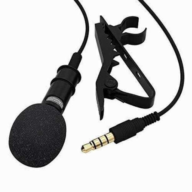 Crozier Clip Collar Microphone For Youtube, Collar Mike for Voice Recording, Easy to clip to your shirt collar, Connect with Mobile, PC, DSLR Camera,Laptop, Android & iOS Smartphones-Collar mic (Black)-Pack of 1 Microphone