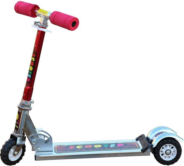 Amaflip Skate Scooter for Kids with 3 Wheels and 4 Position Adjustable Height