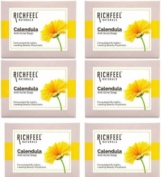 RICHFEEL RF09_Calendula_Acne_Soap_75_g (Pack Of 6)