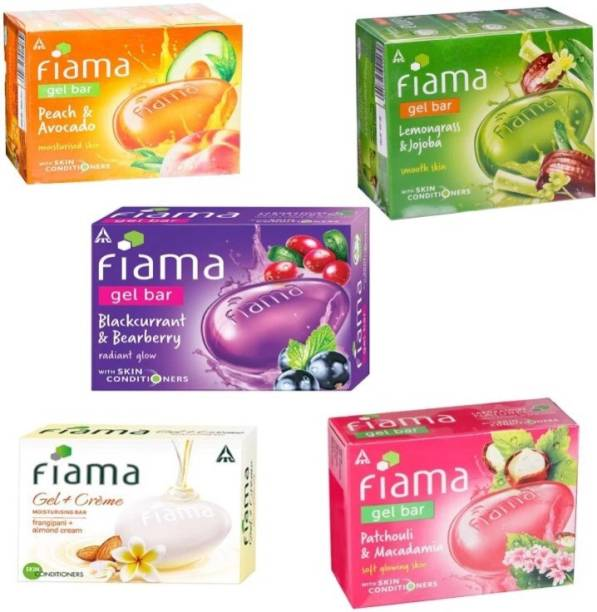 FIAMA Celebration gel bar soap. Skin glow gel bar ( pack of 5)