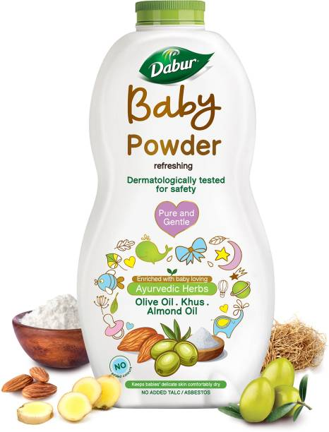 Dabur Baby Powder No added Talc & Asbestos |Contains Oat Starch |No Parabens & Phthalates