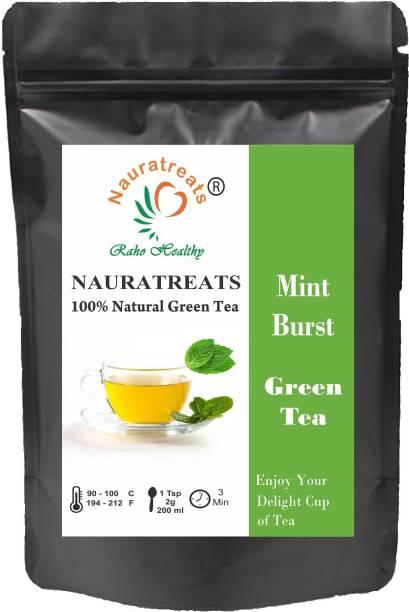 Nauratreats Mint Burst Greeen Tea Mint, Peppermint Green Tea Pouch