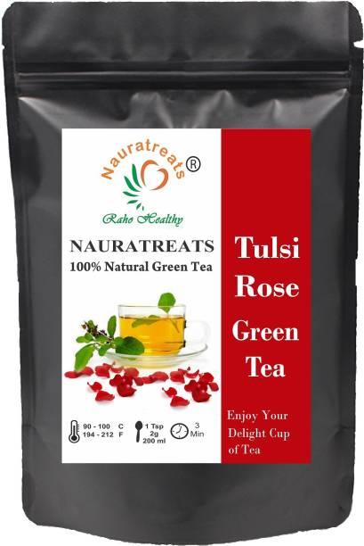 Nauratreats Tulsi Rose Green Tea Tulsi, Rose Green Tea Pouch