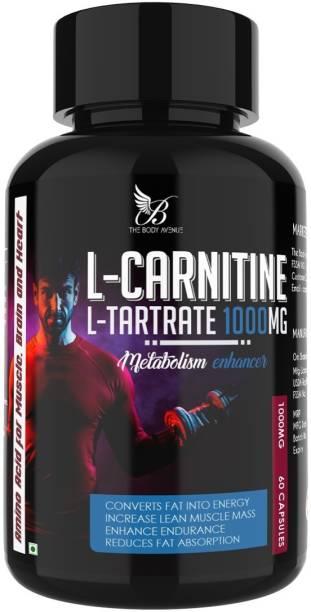 The Body Avenue L Carnitine L Tartrate 1000mg, Fat Burner, Promote Lean Body, Boost Energy