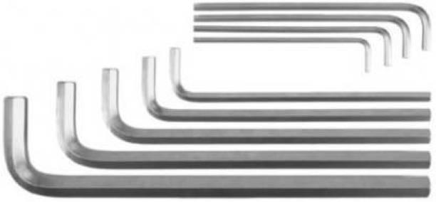 Tulsway 19 Pieces Hex Allen Key Wrench L Shape Repair Tool Set 10 pcs Black & 9 pcs White Allen key Allen Key Set