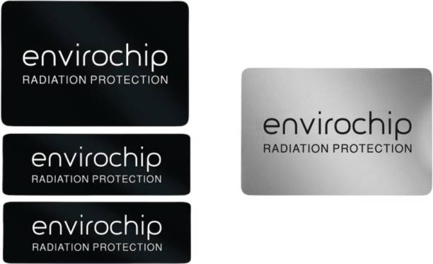 Envirochip Immunity Shielder Pack Against Radiation from Laptop & Wifi Router - Value pack of 2 chips (Black & silver) Anti-Radiation Chip
