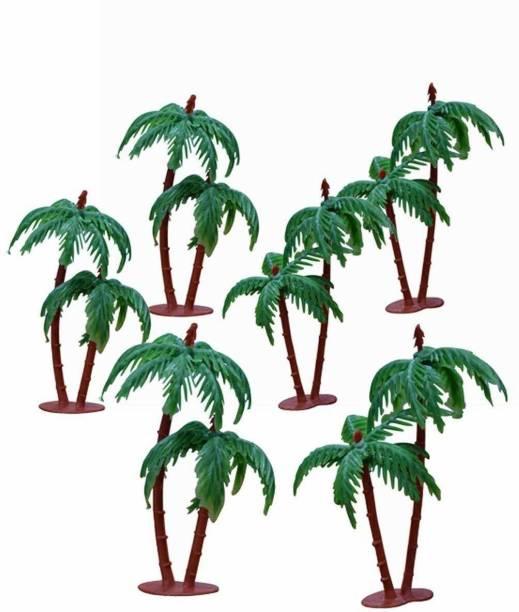 Msquare Supplies Artificial Mini Coconut Tree (10.6cm, Green) Artificial Plant