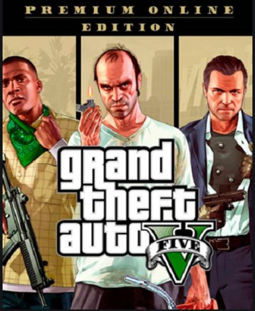 Grand Theft Auto V Premium Edition PC Rockstar Download Code (NO CD/DVD) Premium Edition