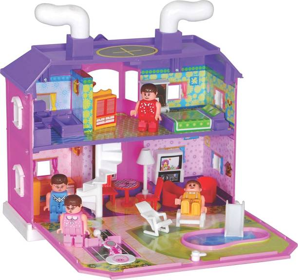 Toyzone My Family Complete Doll House Toy For Kids (For Boys and Girls Kids)