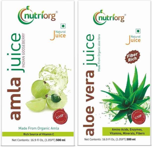 Nutriorg Amla Juice & Aloe Vera Juice Detox Pack