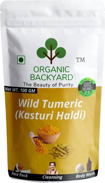 Organic Backyard 100% Natural Wild Turmeric Powder (Kasturi Manjal / Amba Haldi / Jangli Haldi)