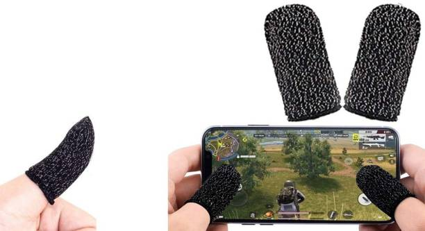 HighSeas New Mobile Finger Sleeve Cots Touch screen Game Controller Sweatproof Gloves Phone Gaming  Gaming Accessory Kit