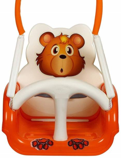 srt creation Panda Baby Swing For Kids Multicolor Plastic Large Swing