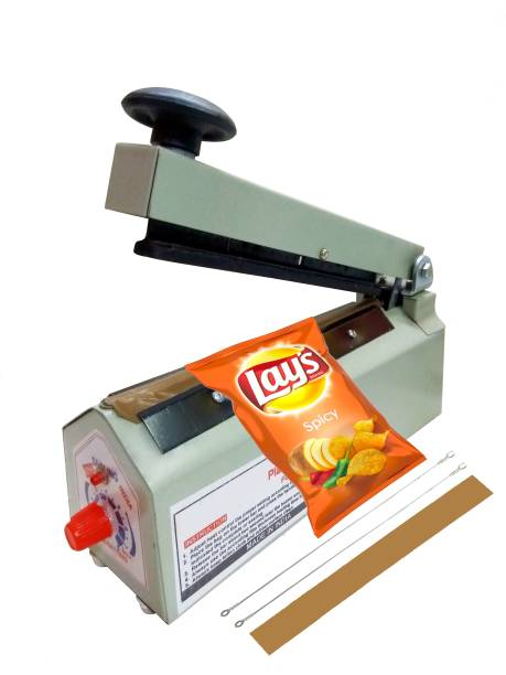 KIING poly Sealing Machine Table Top Heat vaccum Sealer Pouch Plastic Packaging Machines (200 mm) (8.5 inch) Table Top Heat Sealer