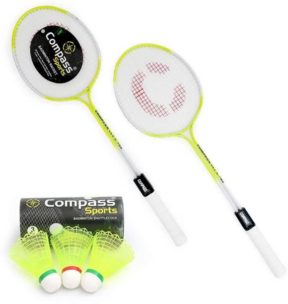 COMPASS CS-786-BADMINTON-2PC-3PC Shuttle Cock Badminton Kit