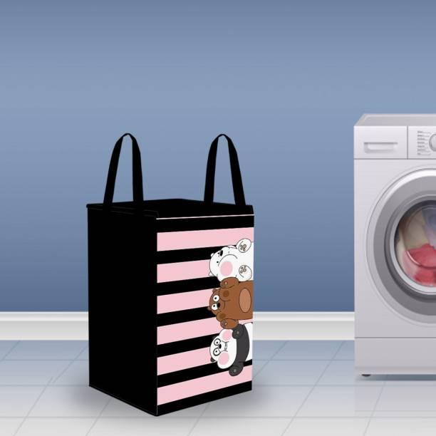 Flipkart SmartBuy 70 L Pink, Black Laundry Basket