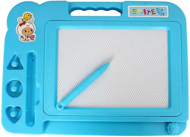 BROK magic slate for kids pen doodle pad erasable drawing easy reading writing learning graffiti board kids gift toy magnetic painting sketch pad for baby children- Multi color