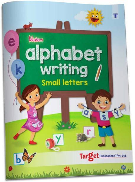 Blossom English Alphabet Writing Book For Kids | ABCD Small Letter Practice And Activities For Nursery Children | 104 Practise Boxes For Each Letter