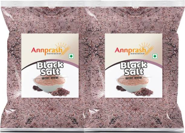 ANNPRASH PREMIUM QUALITY BLACK SALT / KALA NAMAK 1000GM (500GMx2) Black Salt