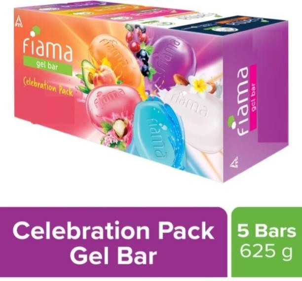 FIAMA Celebration gel bar soap 5 soap in one pack