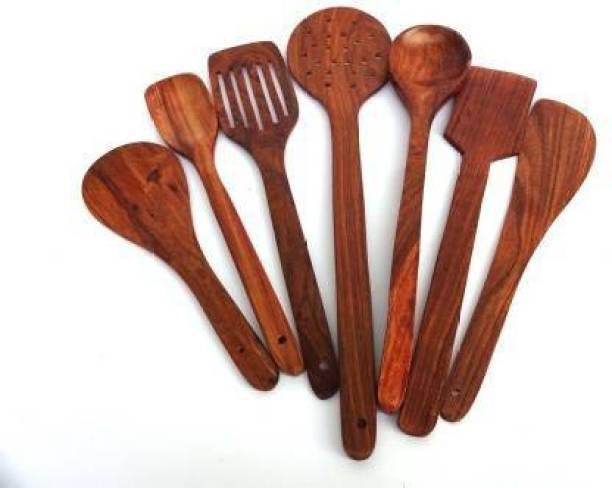 Rize Creations Beautiful Sheesham Spoons Wooden Soup Spoon, Serving Spoon, Dessert Spoon, Measuring Spoon, Table Spoon, Salad Spoon Set