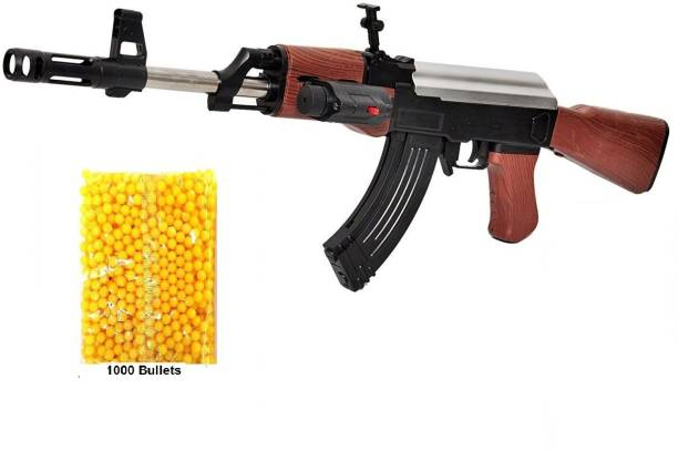 IndusBay Army Style AK47 Toy Gun with BB Bullets , PUBG AK-47 with Laser Light with 1000 Plastic Bullets | BB gun for boys Guns & Darts