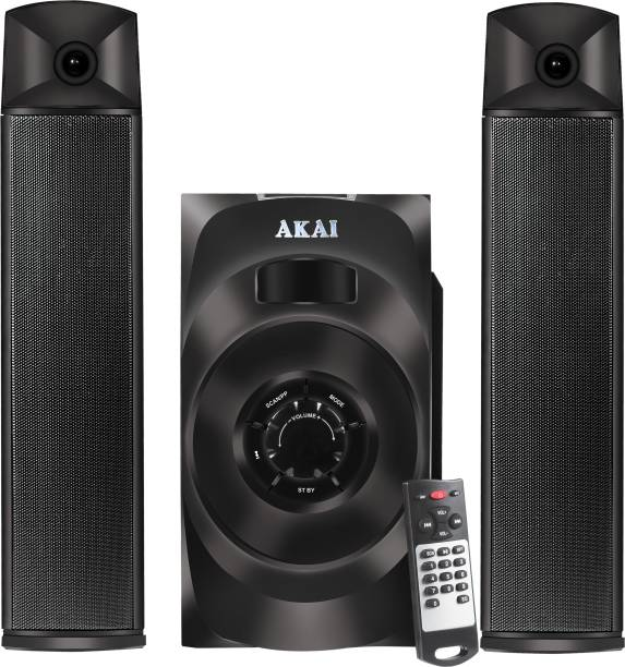 Akai Audio 2.1 Satellite Speaker HA-SS65 Powerful 65W RMS, Convertible as soundbar with Full Function Remote Control 65 W Bluetooth Home Theatre