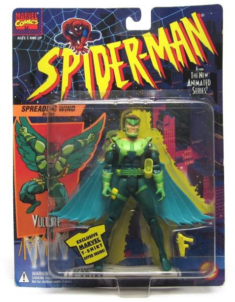 Spiderman VULTURE * Spreading Wings Action * 1994 Spider-Man The New Animated Series Action Figure [CAT_4989]