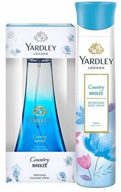 Yardley London Country Breeze Daily Wear Perfume 100ml with Country Breeze Refreshing Deo 150ml