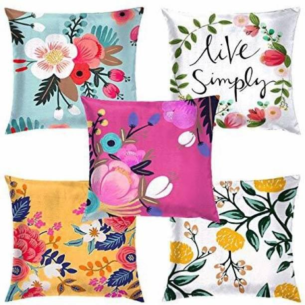 DIYANK Floral Cushions Cover