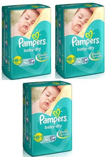 Pampers New Born S 11+11+11 - New Born - New Born