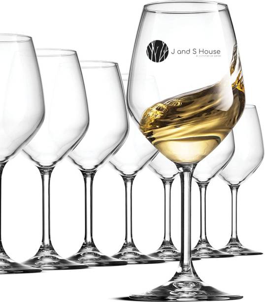 J and S house (Pack of 2) Crystal Clear Elegant Reg Wine ZF1303 Glass Set