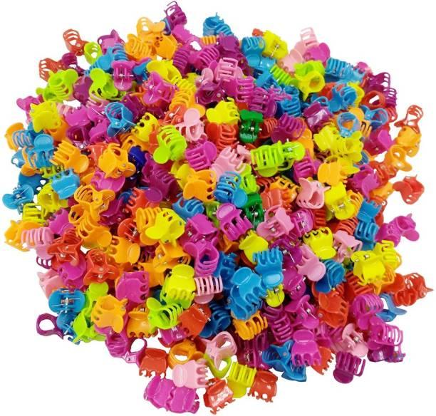 Kidzoo 1.5cm Mini Hair Claw Clips Plastic Clutcher Claws Hair Clips Pins Clamps For Girl Teens Kids & Women Hair Accessories Multi-Colors (50 Pcs- Mini Hair Clutcher) Hair Clip