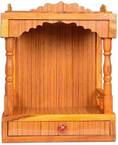 Hydroshell Plywood Mandir for Pooja Room Wall Hanging Temple Engineered Wood Home Temple