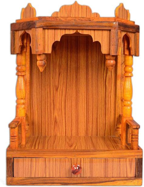 Remino Beautiful Plywood Mandir for Pooja Room Home Decoration Wall Hanging Engineered Wood Home Temple