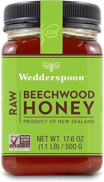 Wedderspoon Raw Beechwood Honey, 17.6 oz