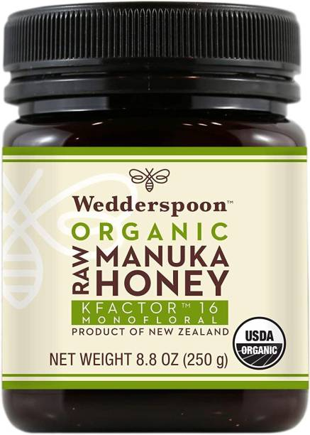 Wedderspoon Raw Organic Manuka Honey KFactor 16+, 8.8 Ounce