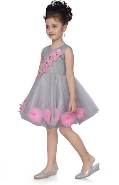 Aarika Indi Girls Above Knee Party Dress