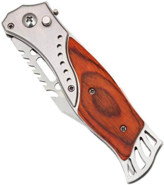 NSV Folding Push Button Pocket Knife For Hiking Camping Travelling Survival Knife, Pocket Knife, Knife, Campers Knife