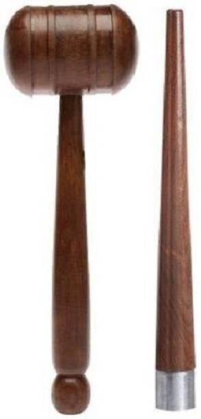 Kiraro Premium Quality Cricket Bat Knocking Mallet/Hammer With Bat Handle Gripper Cone Wooden Bat Mallet