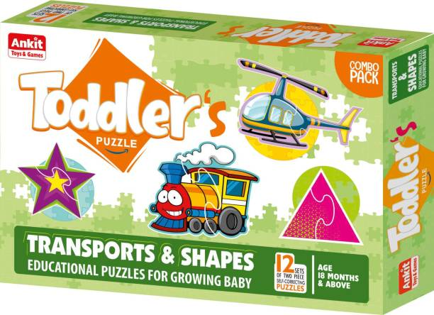 Ankit TODDLER'S PUZZLE  TRANSPORTS & SHAPES |Puzzle Games /Toys For Kids Learning /Education 18 Months+
